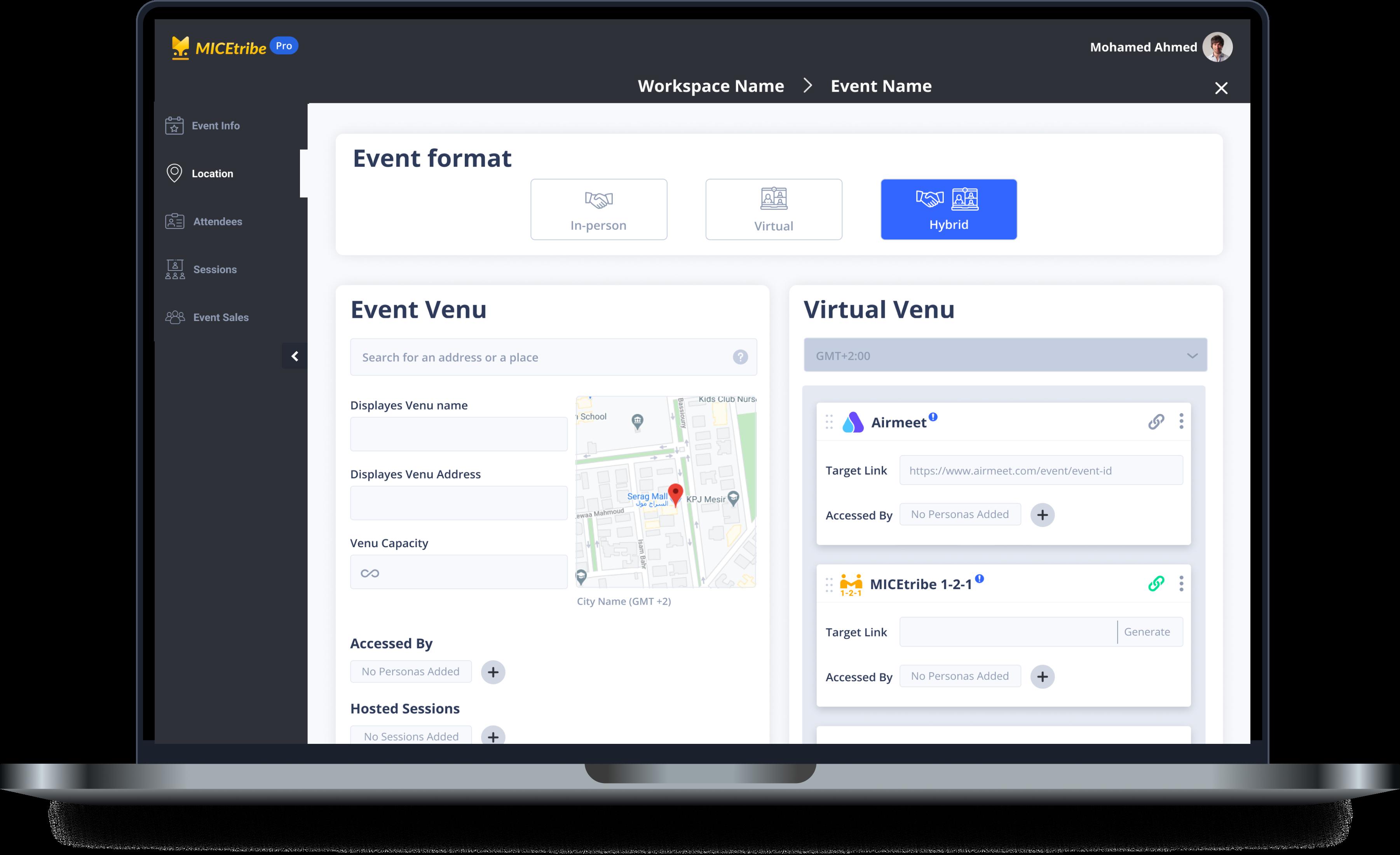Hybrid event selection